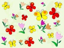 Het patroon van bloemen stock illustratie