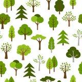 Het Patroon van bomenpictogrammen Stock Foto