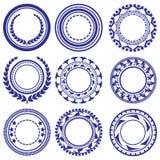 Het Patroon van cirkelelementen Royalty-vrije Stock Foto's