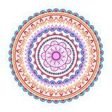 Het patroon van cirkelmandala Decoratief rond ornament Yogaembleem, achtergrond voor meditatieaffiche Stock Afbeelding