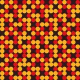 Het patroon van cirkels stock illustratie