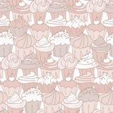 Het Patroon van Cupcake Royalty-vrije Stock Foto