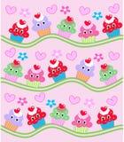 Het patroon van Cupcake Stock Fotografie