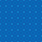 Het Patroon van de achtergrond ornamentliefde Blauw stock illustratie