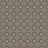 Het Patroon van de achtergrond ornamentliefde Goud stock illustratie