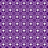 Het Patroon van de achtergrond ornamentliefde Purple royalty-vrije illustratie