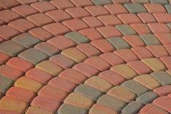 Het Patroon van de Baksteen van het terras Stock Fotografie