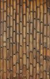 Het patroon van de bamboemuur Stock Foto's