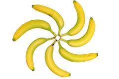 Het patroon van de banaan Stock Foto