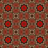 Het patroon van de batik en computerverwerking Stock Afbeelding