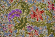 Het patroon van de batik, Indonesië Stock Foto
