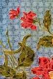 Het patroon van de batik, Maleisië Royalty-vrije Stock Afbeeldingen
