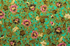 Het patroon van de batikdoek Royalty-vrije Stock Foto