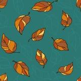 Het patroon van de bladdaling Stock Afbeeldingen