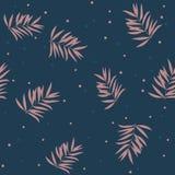 Het patroon van de bladerentextuur Waterverf bloemenachtergrond vector illustratie