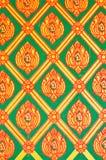 Het patroon van de bloem in de traditionele Thaise verf van de stijlkunst Stock Afbeelding