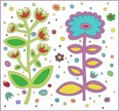 Het patroon van de bloem op wit Royalty-vrije Stock Afbeeldingen