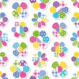 Het patroon van de bloemeninzameling Stock Afbeeldingen