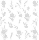 Het patroon van de bloemwaterverf Royalty-vrije Stock Foto's
