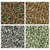 Het patroon van de camouflage Stock Fotografie