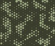 Het patroon van de camouflage De stijl van de slanghuid, halftone naadloos patroon Groene camoachtergrond royalty-vrije illustratie