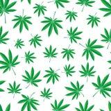 Het patroon van de cannabis Stock Afbeelding
