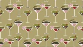 Het patroon van de cocktail Royalty-vrije Stock Foto