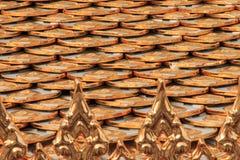 Het patroon van de daktextuur Royalty-vrije Stock Foto's