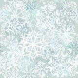 Het patroon van de de wintervorst met sneeuwvlokken Het naadloze patroon van de winter Stock Foto