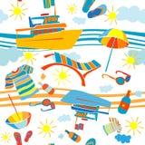 Het patroon van de de zomervakantie Stock Foto