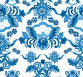 Het patroon van de decoratiebloem stock illustratie