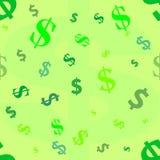 Het Patroon van de dollar Royalty-vrije Stock Afbeeldingen