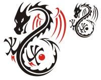 Het patroon van de draak Stock Afbeelding