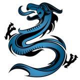 Het patroon van de draak stock illustratie