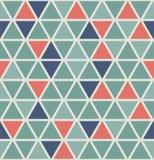 Het patroon van de driehoek Naadloos en retro stijlontwerp Stock Afbeeldingen