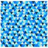 Het patroon van de driehoekswinter, blauwe geometrische vector als achtergrond Royalty-vrije Stock Foto