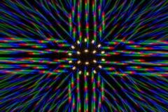 Het patroon van de fotodiffractie van de LEIDENE serie, dat door grating wordt verkregen stock foto's