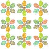 Het patroon van de gele narcis Royalty-vrije Stock Afbeeldingen