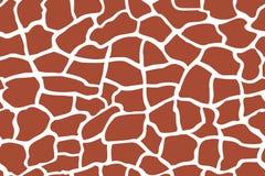 Het patroon van de giraftextuur naadloos het herhalen bruin Bourgondië wit Stock Foto