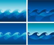 Het patroon van de golf vector illustratie