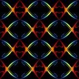 Het Patroon van de Harten van de regenboog Stock Afbeeldingen