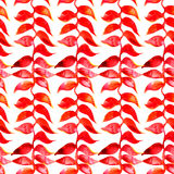 Het patroon van de Heliconiawaterverf Vector tropisch Stock Afbeelding