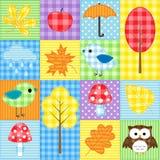 Het patroon van de herfst Royalty-vrije Stock Afbeeldingen