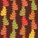 Het patroon van de herfst met bladeren stock illustratie