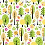 Het patroon van de herfstbomen Royalty-vrije Stock Foto's