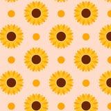 Het patroon van de herfstzonnebloemen Perfectioneer voor groetenkaart, textiel, behang stock illustratie