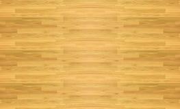 Het patroon van de het basketbalvloer van het esdoornhardhout zoals die hierboven wordt bekeken van Stock Afbeelding