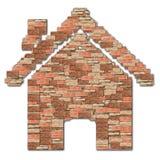 Het patroon van de het symboolbaksteen van het huis Royalty-vrije Stock Afbeeldingen