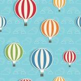Het patroon van de hete luchtballon Stock Fotografie