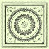 Het patroon van de hinditekening van Mehenditracery, tapijt Royalty-vrije Stock Foto